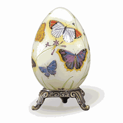 Butterflies Footed Jewelry Egg