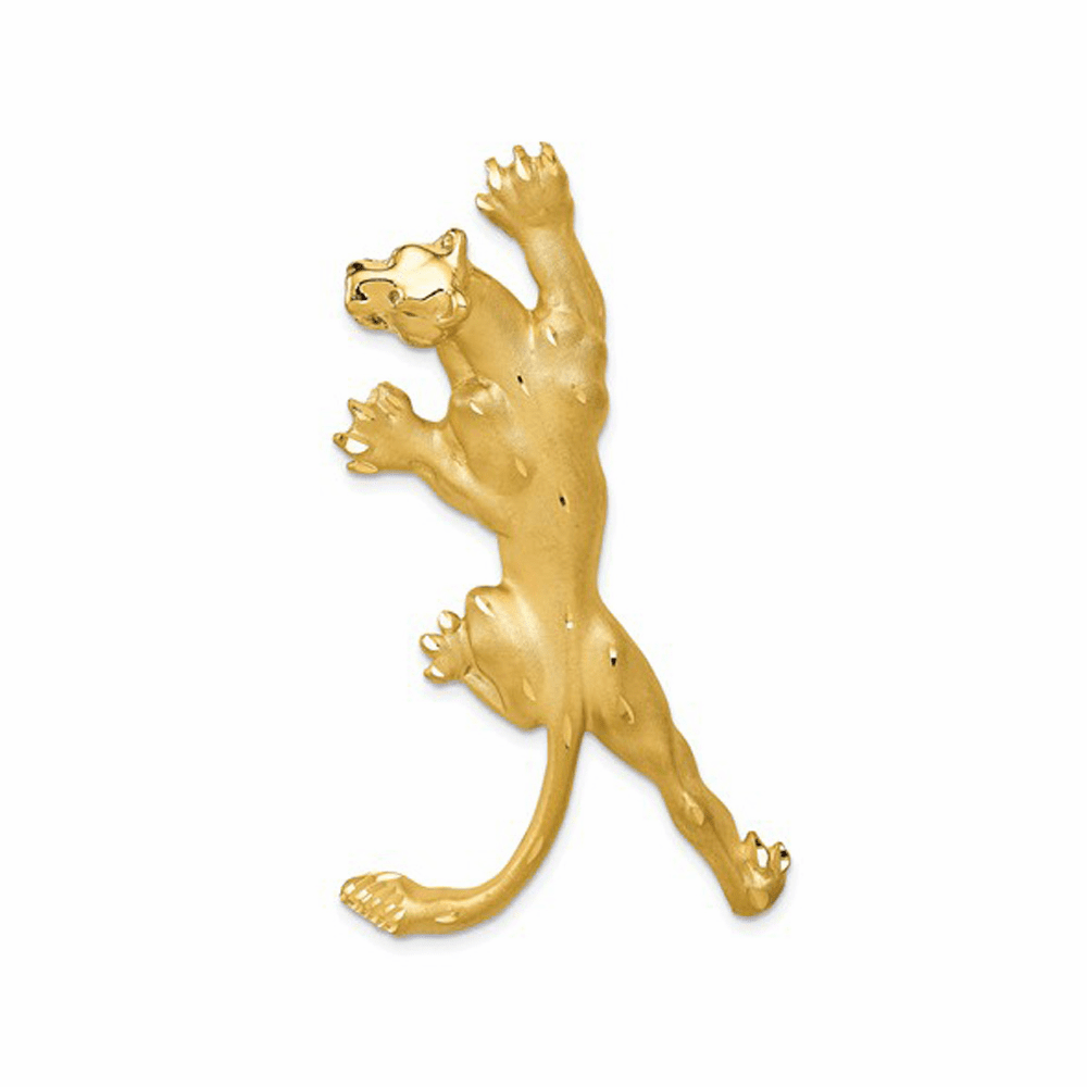 Casted Panther Pendant - 14K Yellow Gold
