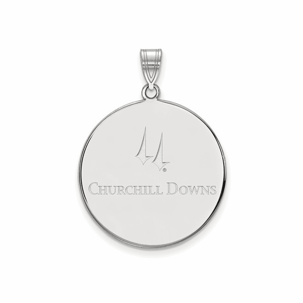 Churchill Downs LogoArt Extra Large Disc Pendant - Sterling Silver