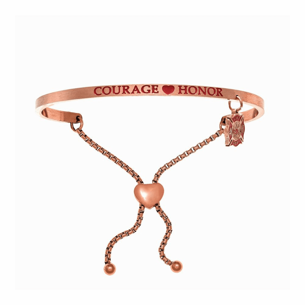Courage Honor Adjustable Bangle - Stainless Steel