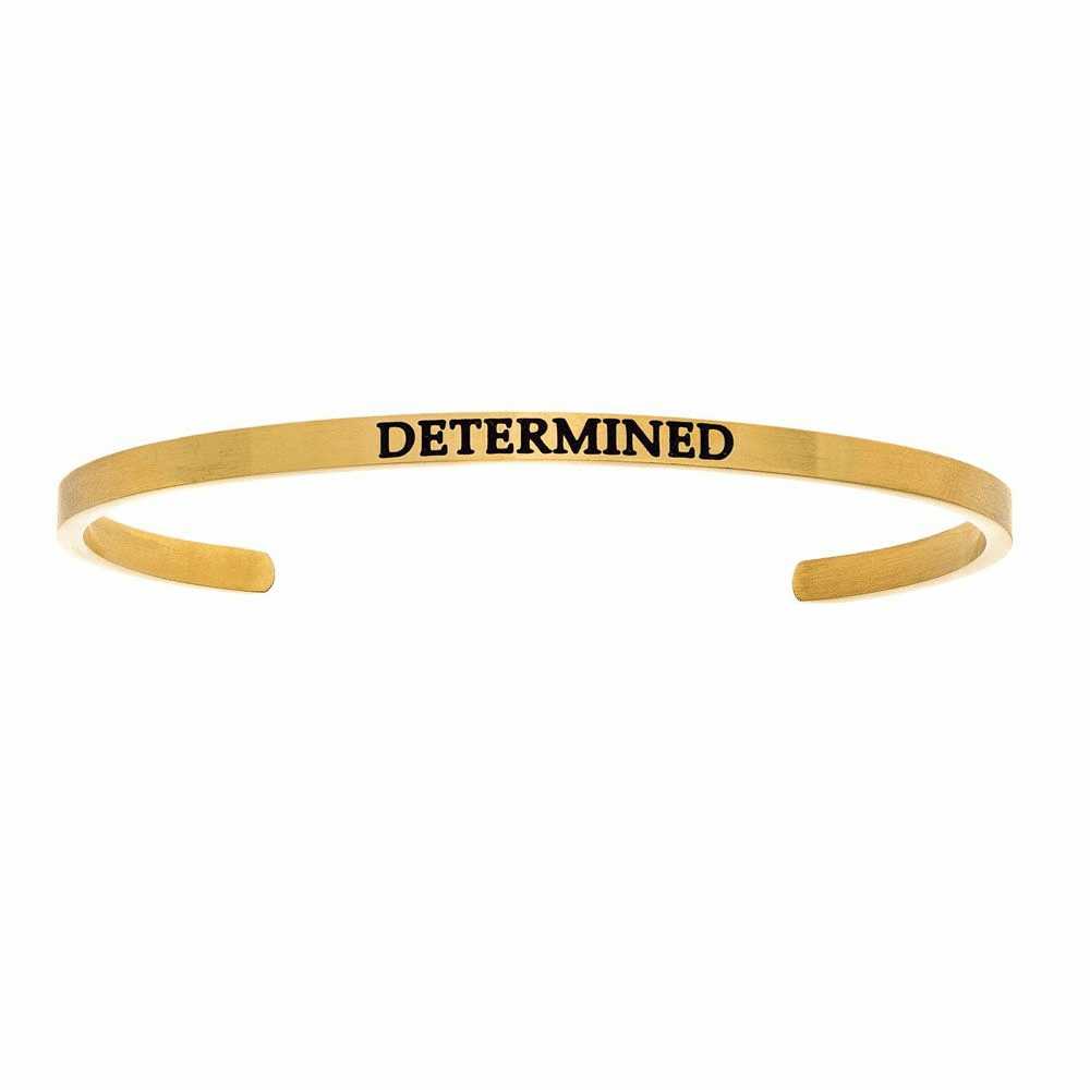 Determined Cuff Bangle - Stainless Steel