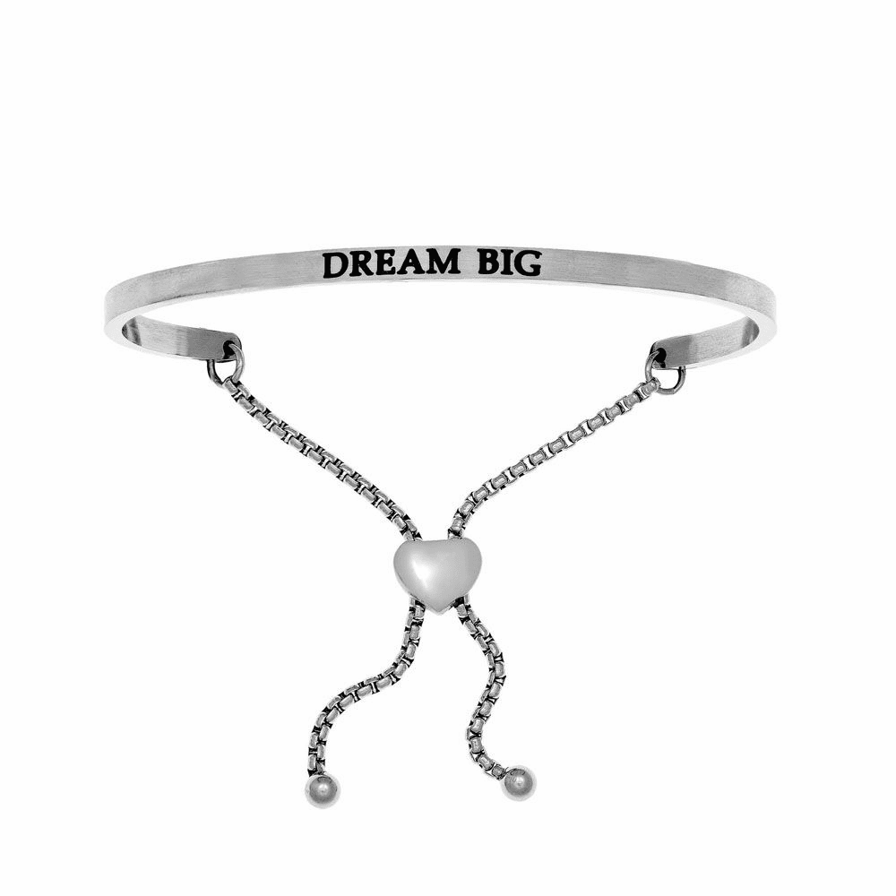 Dream Big Adjustable Bracelet - Stainless Steel