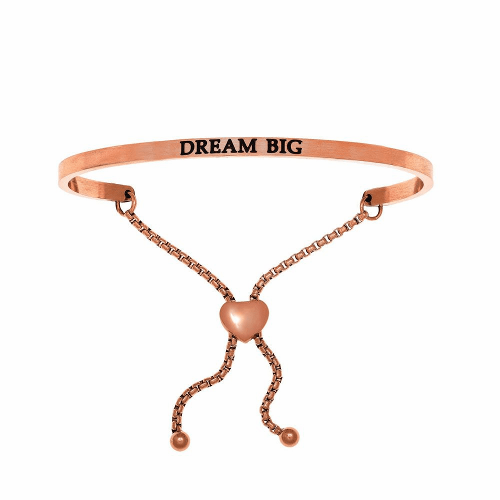 Dream Big Adjustable Friendship Bracelet - Stainless Steel
