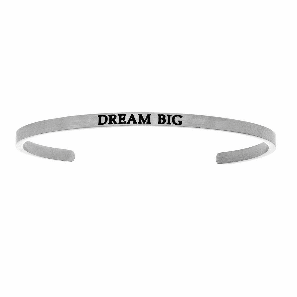 Dream Big Cuff Bangle - Stainless Steel