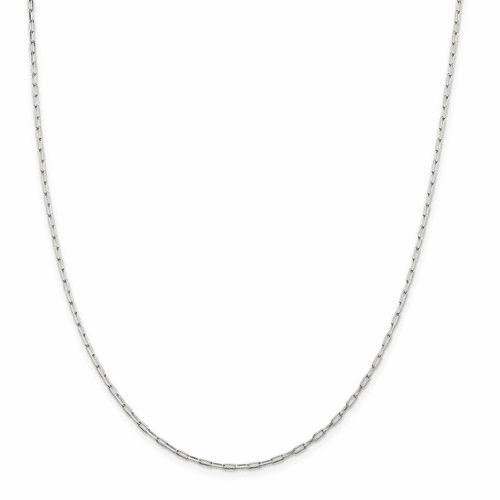 Elongated 4 Sided D/C Open Link Cable Chain Necklaces