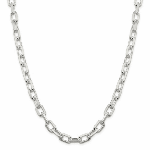 Elongated 8 Sided D/C Open Link Cable Chain Necklaces