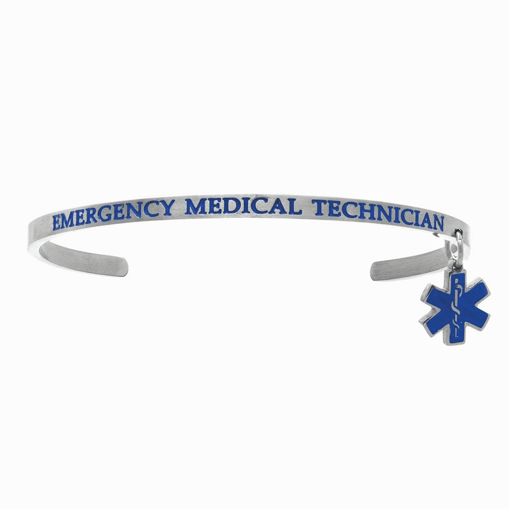 Emergency Medical Technician Cuff Bangle - Stainless Steel