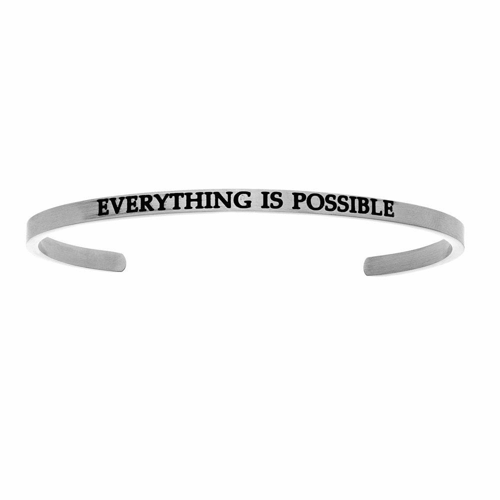 Everything is Possible Cuff Bangle - Stainless Steel