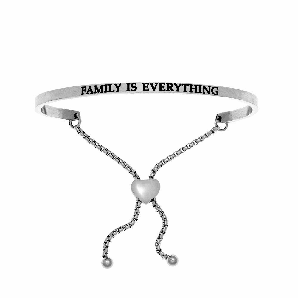 Family is Everything Adjustable Bracelet - Stainless Steel