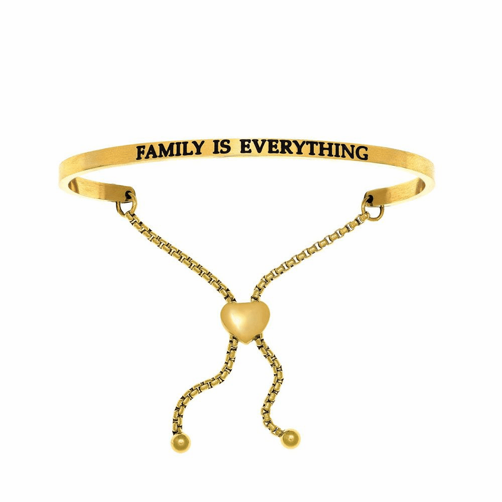 Family is Everything Adjustable Friendship Bracelet - Stainless Steel