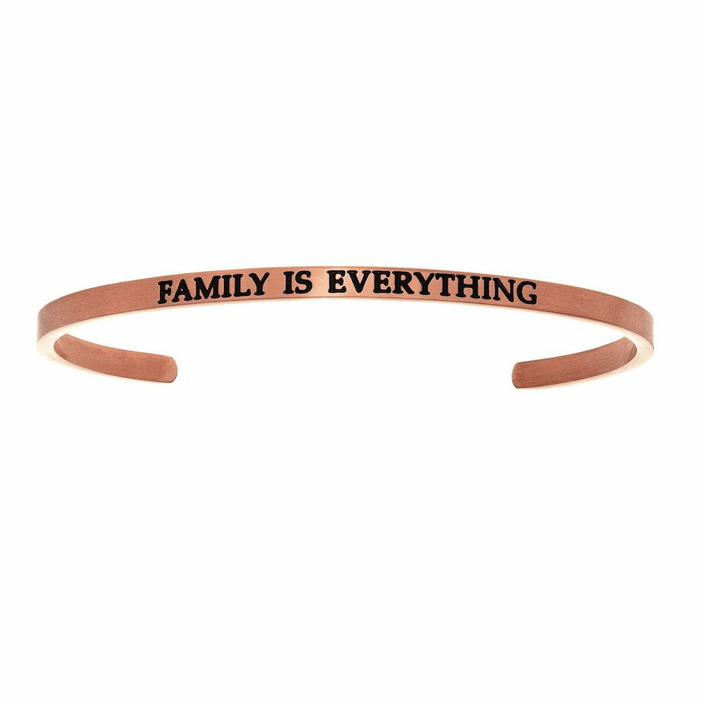 Family is Everything Cuff Bangle - Stainless Steel