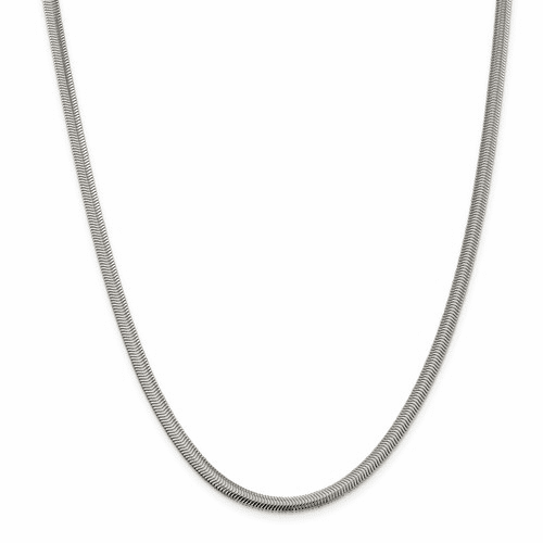 Flat Oval Snake Chain Necklaces