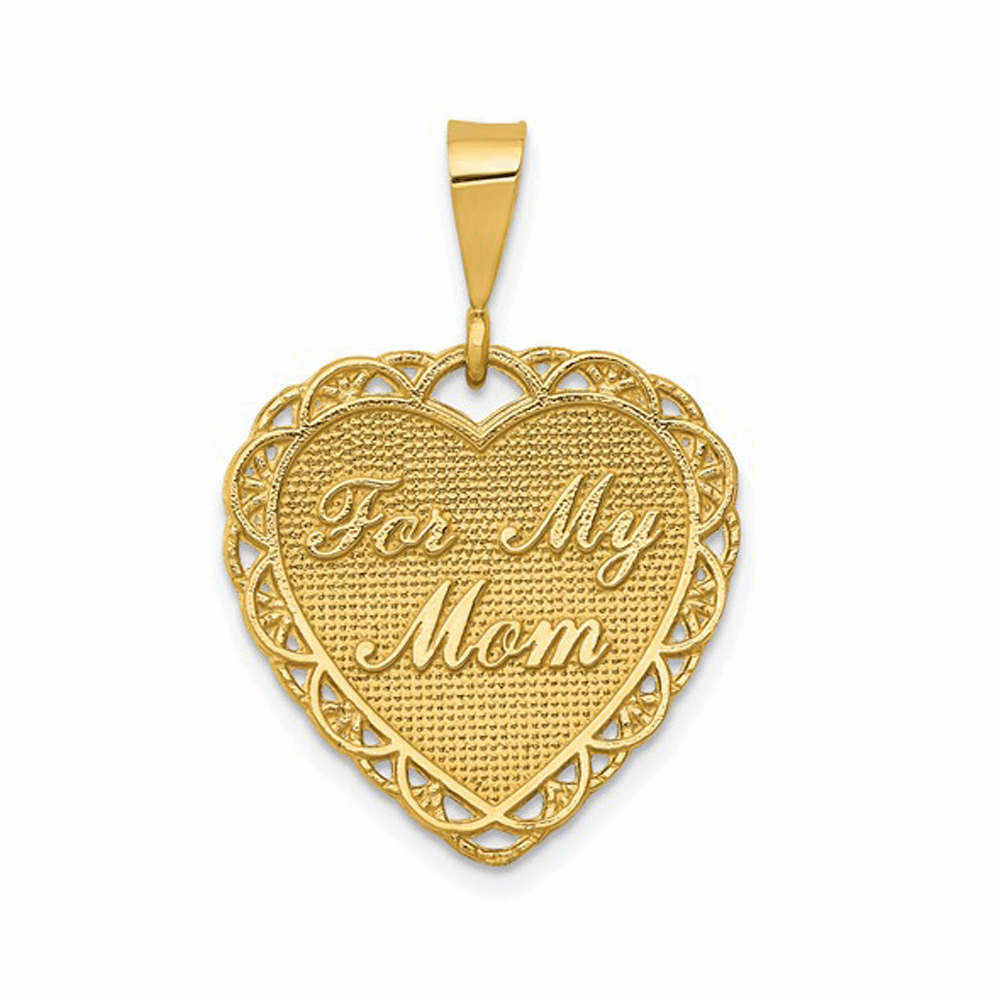 For My Mom Charm - 14K Yellow Gold