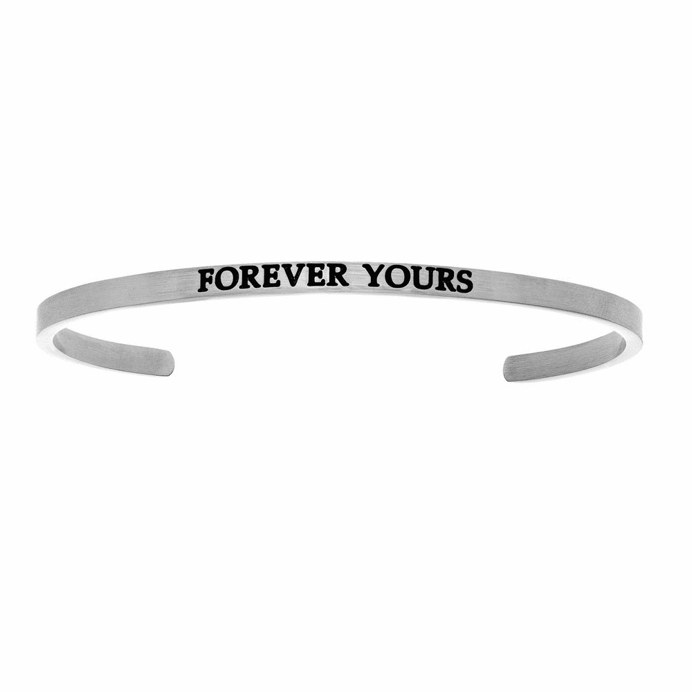 Forever Yours Cuff Bangle - Stainless Steel