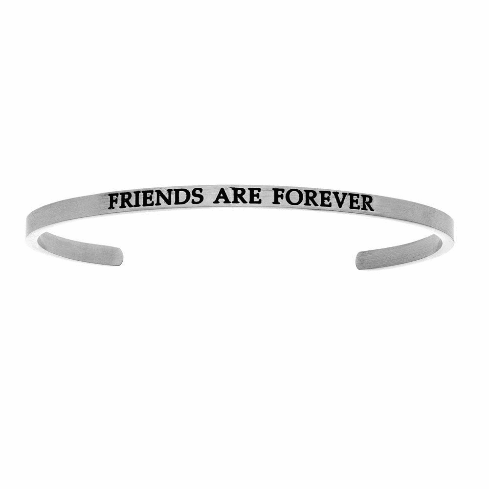 Friends Are Forever Cuff Bangle - Stainless Steel