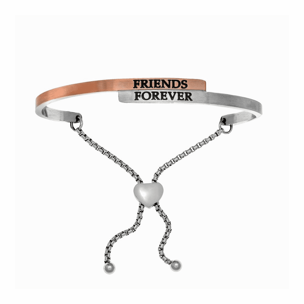 Friends Forever Adjustable Bangle - Stainless Steel