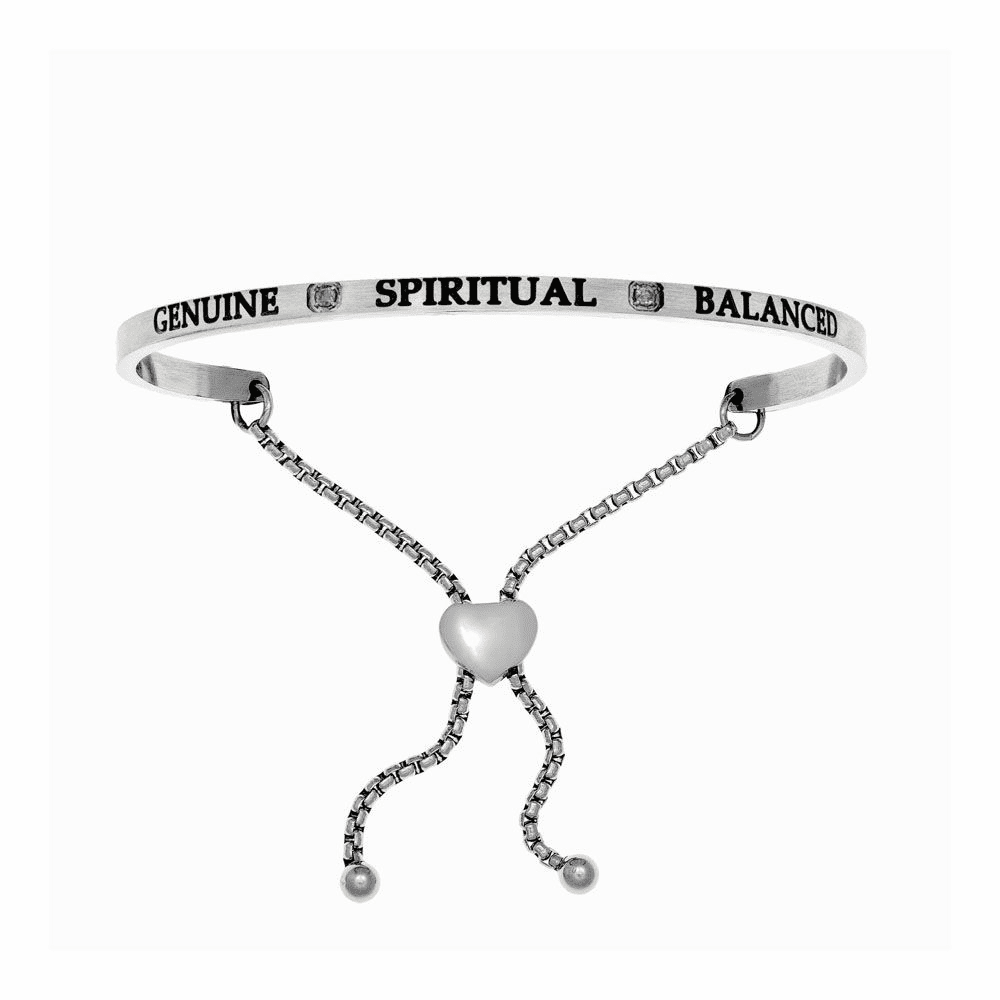 Genuine Spiritual Balanced Adjustable Bangle - Stainless Steel