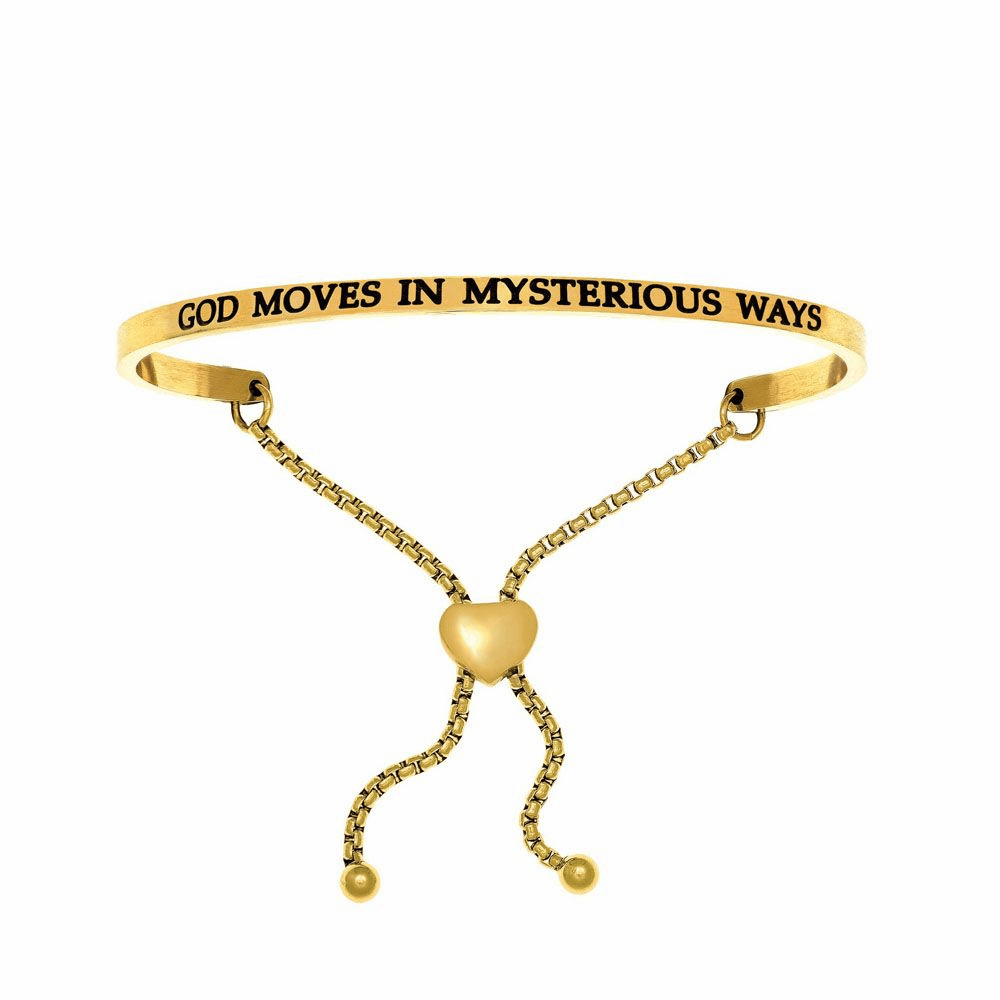 God Moves In Mysterious Ways Adjustable Bracelet - Stainless Steel