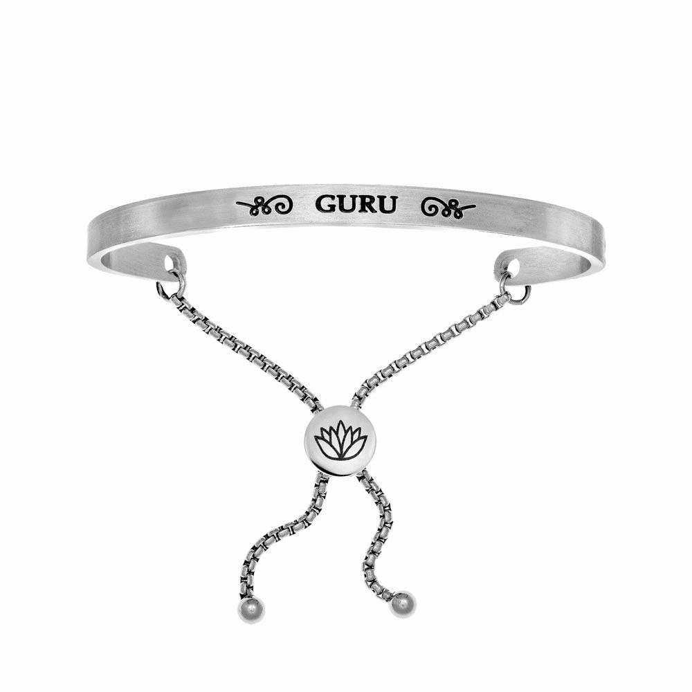 Guru Adjustable Bangle - Stainless Steel