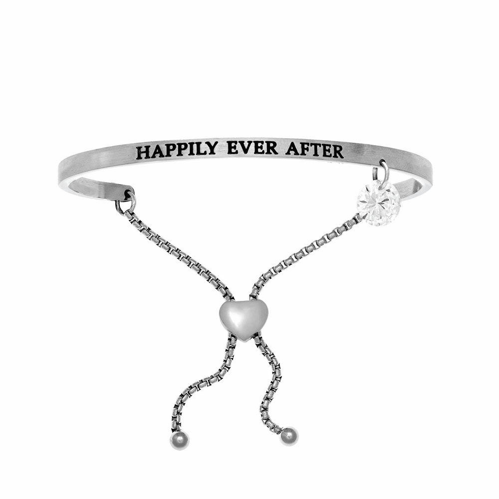 Happily Ever After Adjustable Bangle - Stainless Steel