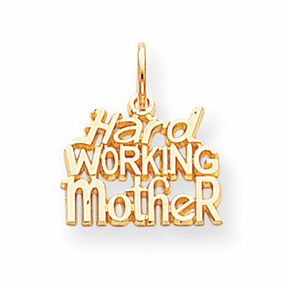 Hardworking Mother Charm - 10K Yellow Gold