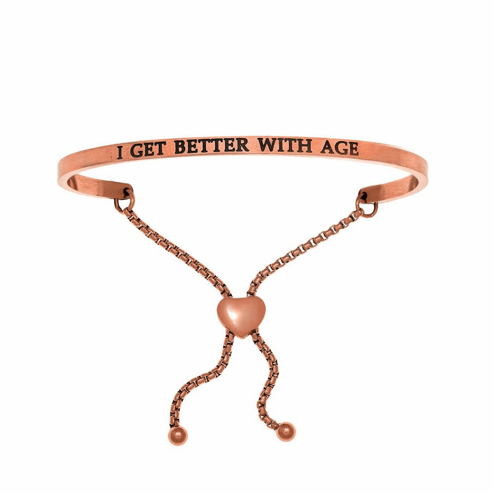 I Get Better with Age Friendship Bracelet - Stainless Steel