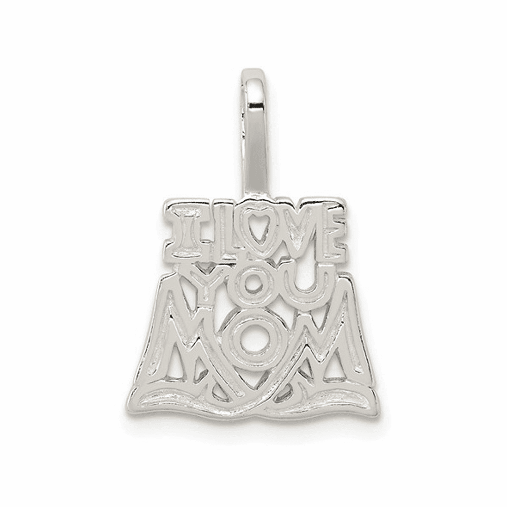 I Love You Mom Pendant - Sterling Silver