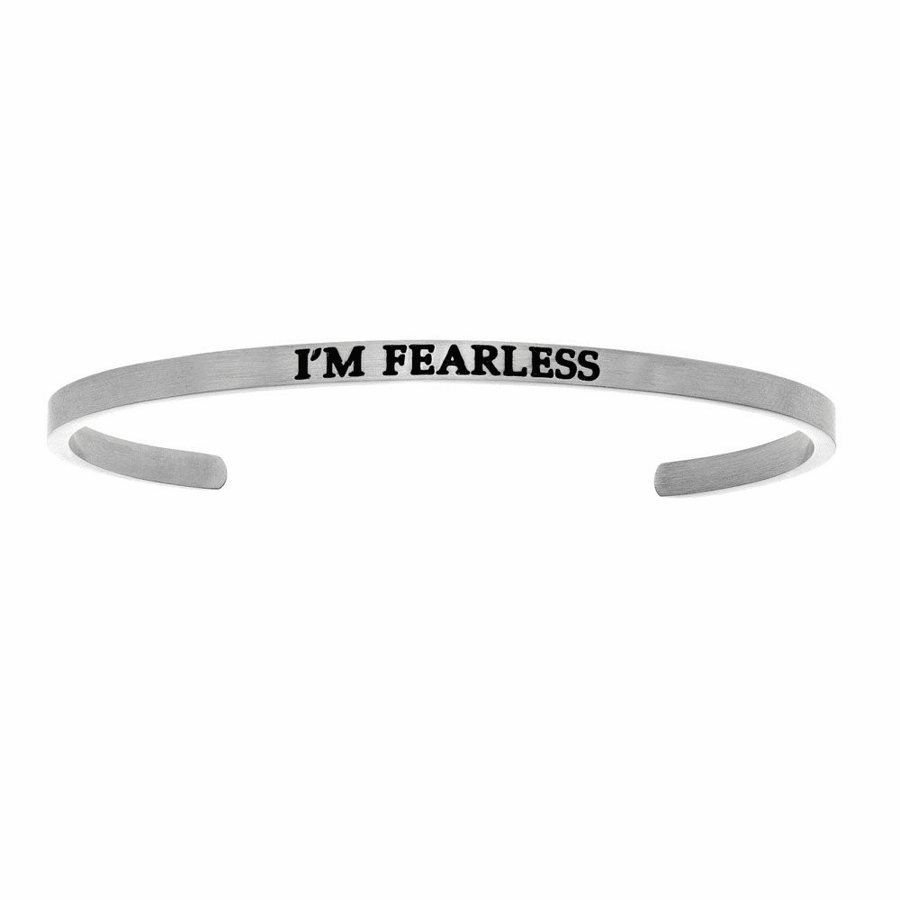 I'm Fearless Cuff Bangle - Stainless Steel