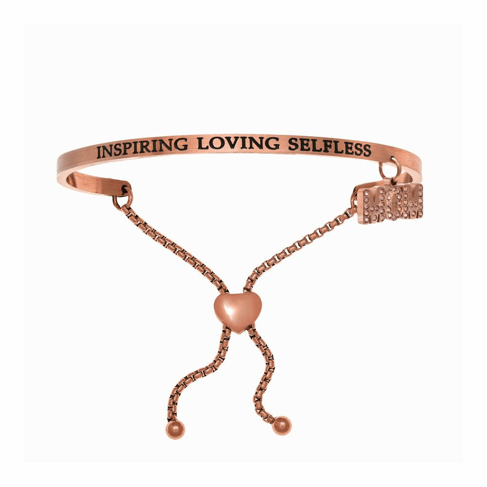 Inspiring Loving Selfless Adjustable Bangle - Stainless Steel