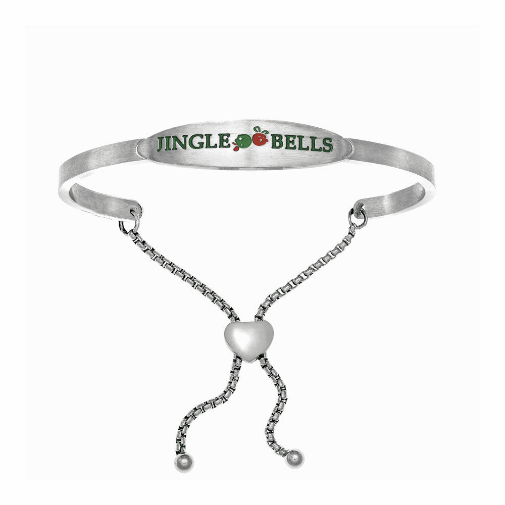 Jingle Bells Adjustable Bangle - Stainless Steel