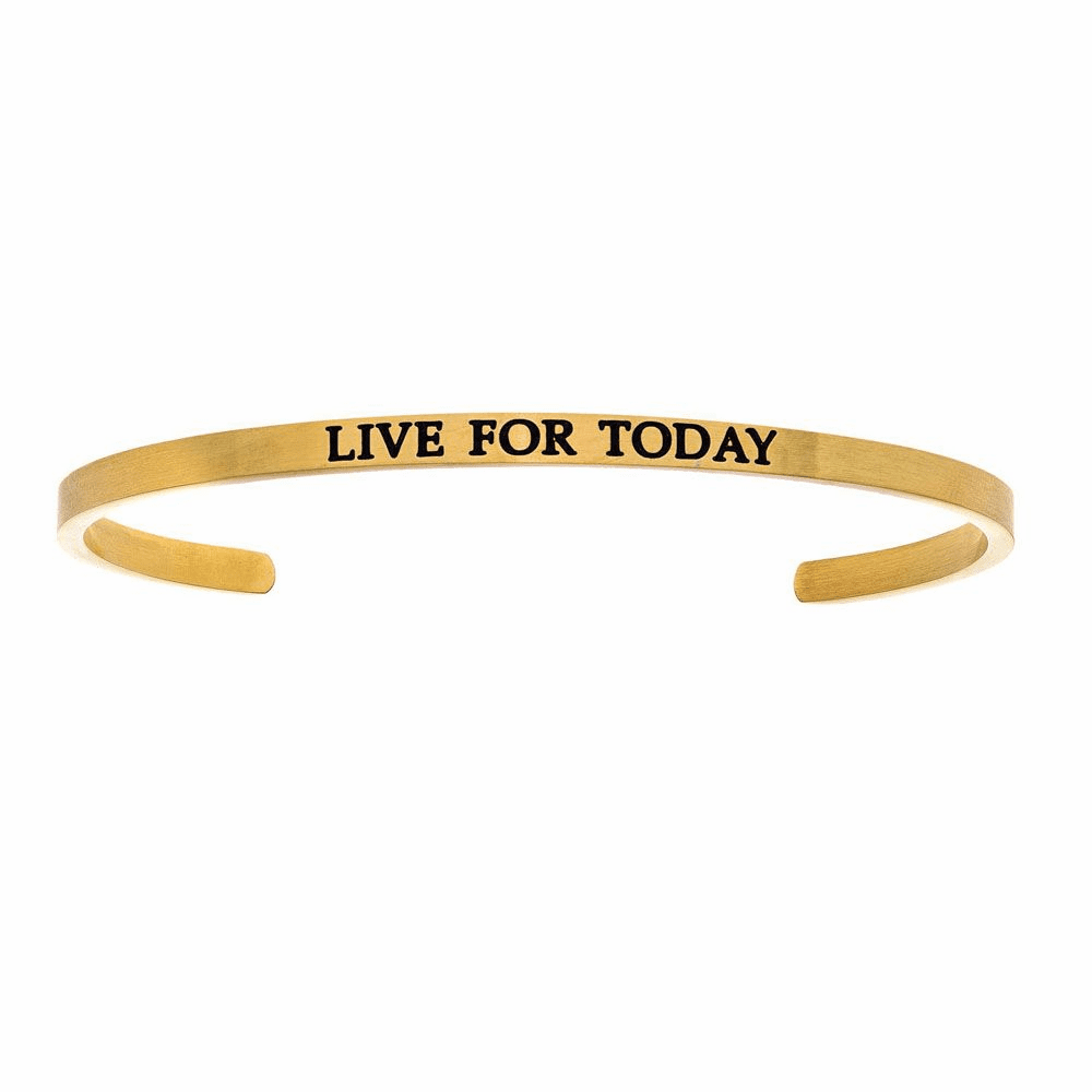 Live For Today Cuff Bangle - Stainless Steel