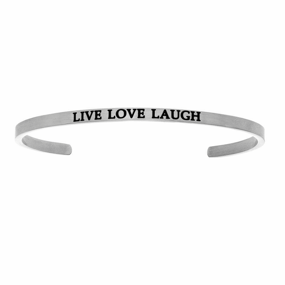 Live Love Laugh Cuff Bangle - Stainless Steel