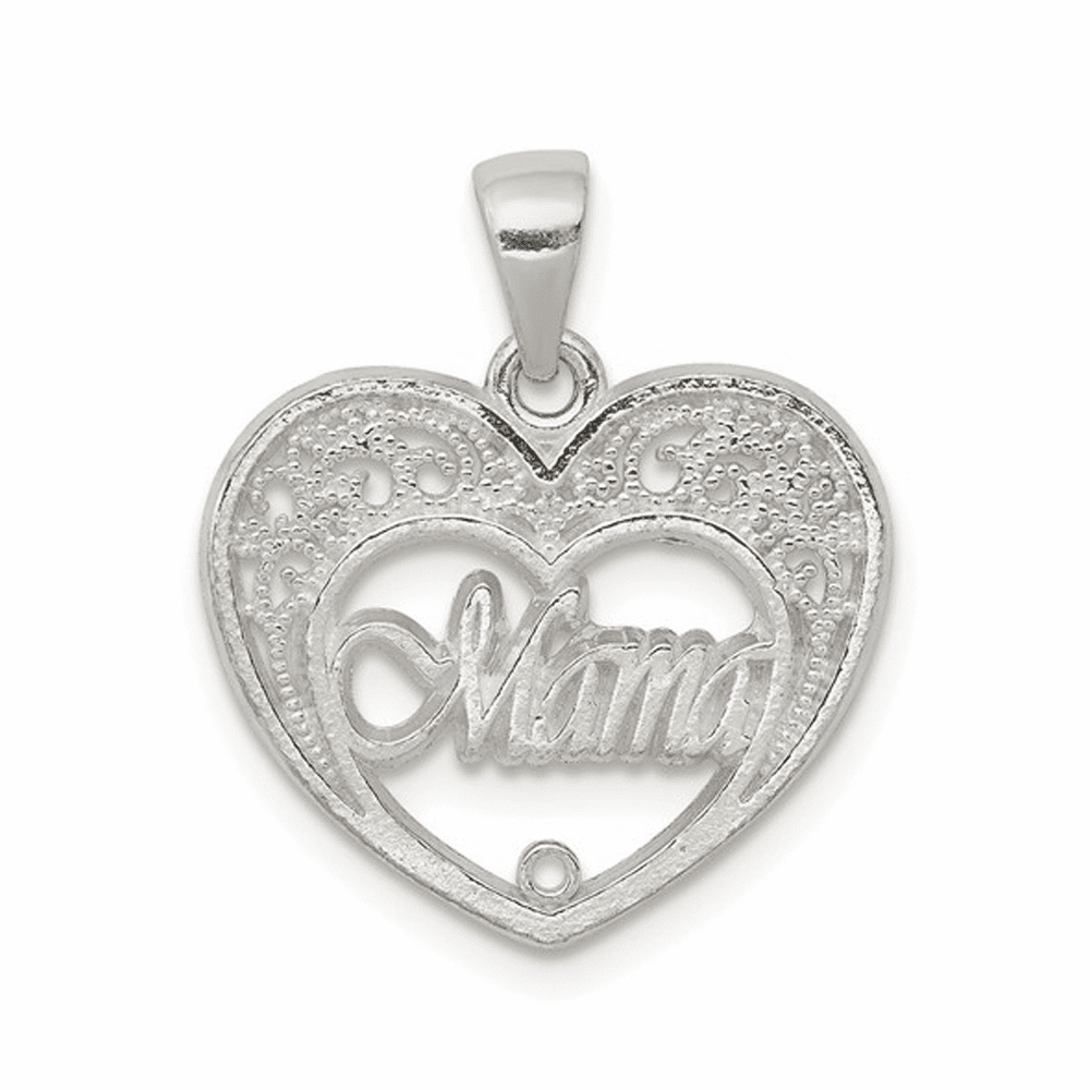 Mama Heart Charm - Sterling Silver