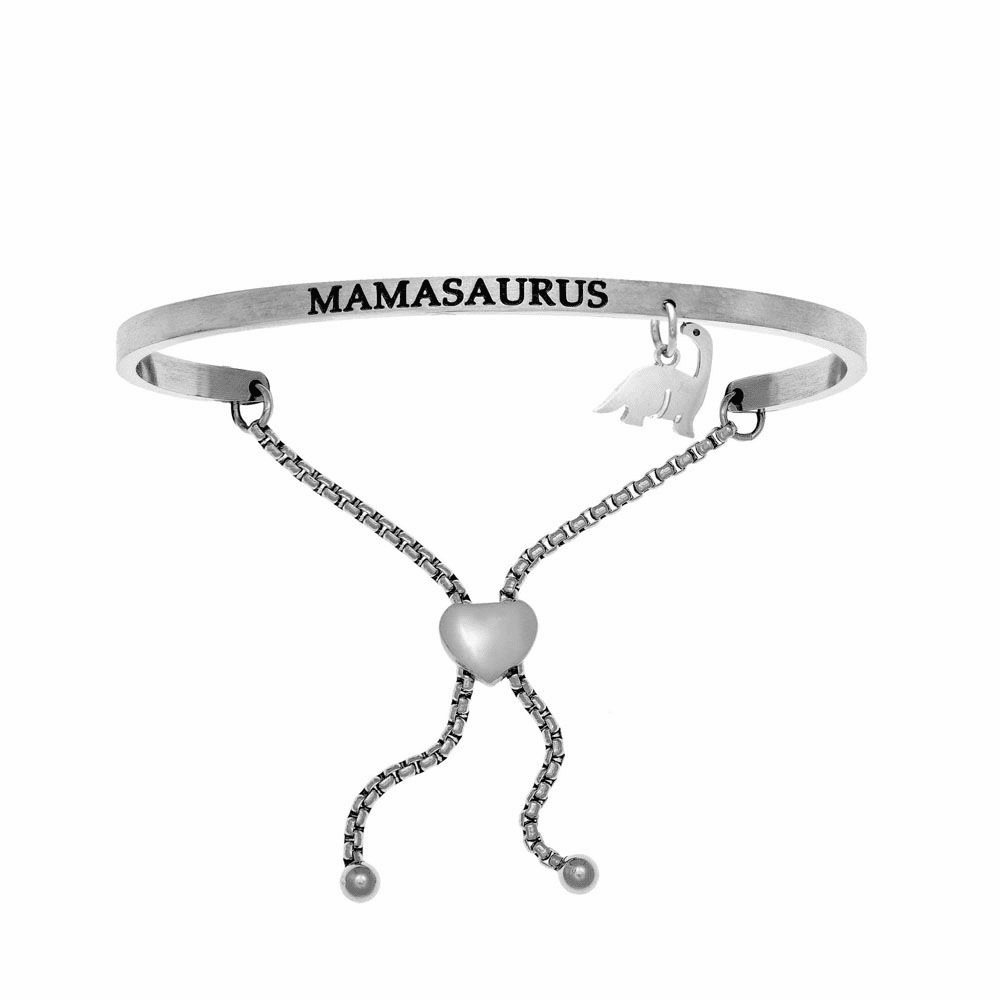 Mamasaurus Adjustable Bangle - Stainless Steel