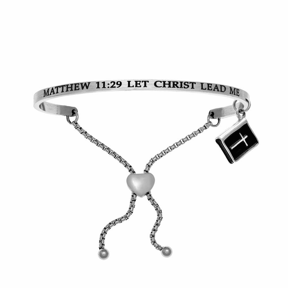 Matthew 11:29 Let Christ Lead Me Bangle - Stainless Steel