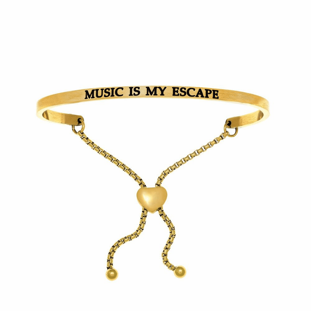 Music is my Escape Adjustable Friendship Bracelet - Stainless Steel