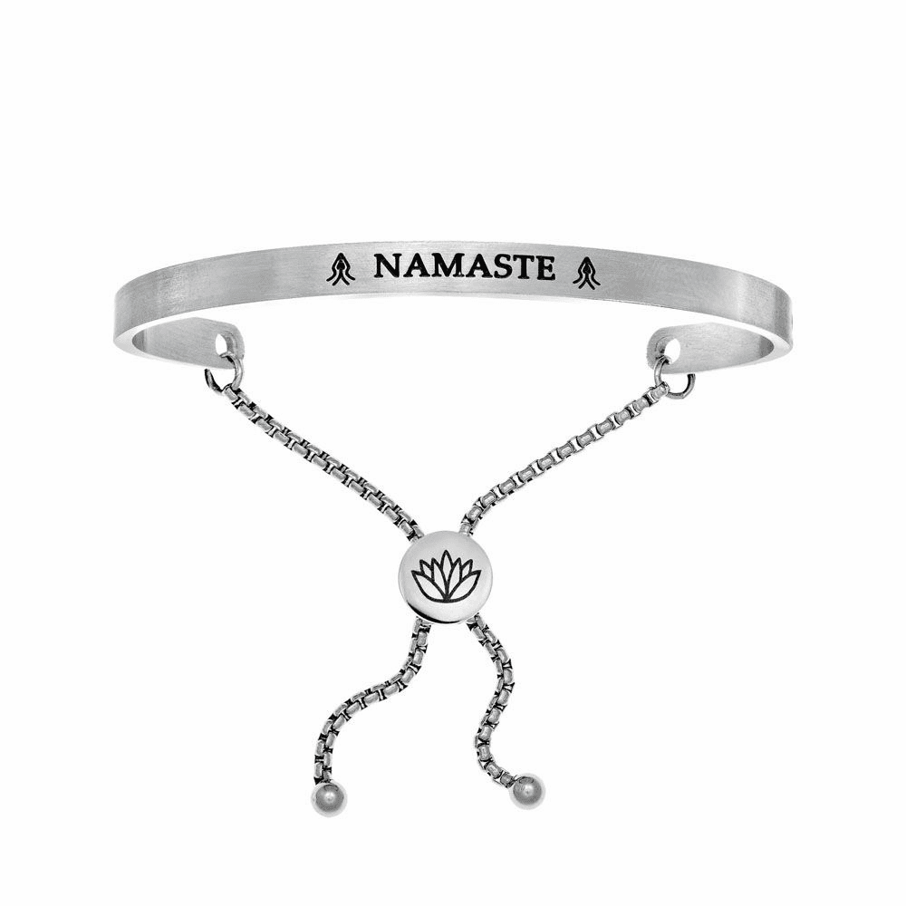 Namaste Adjustable Bangle - Stainless Steel
