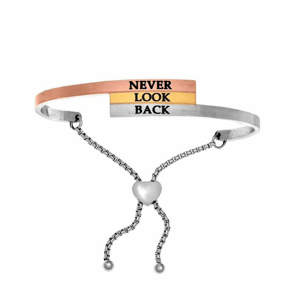 Never Look Back Adjustable Bangle - Stainless Steel