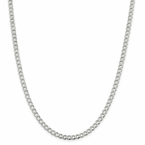 Open Flat Curb Chain Necklaces
