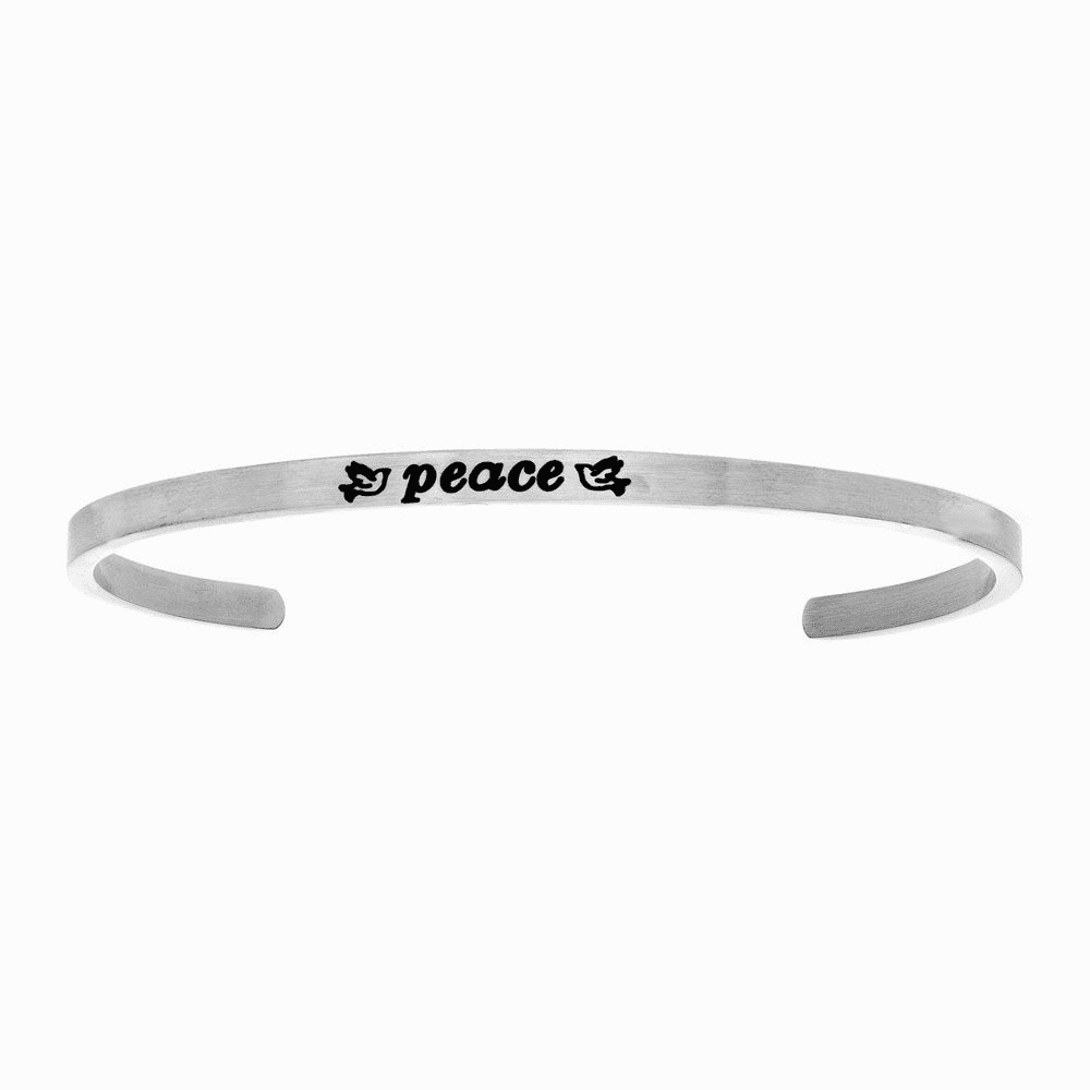 Peace with Doves Intuition Cuff Bangle - Stainless Steel