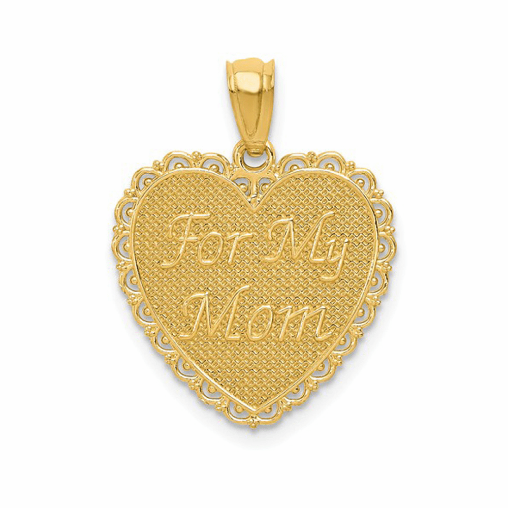 Polished For My Mom Thanks For Everything Pendant - 14K Yellow Gold