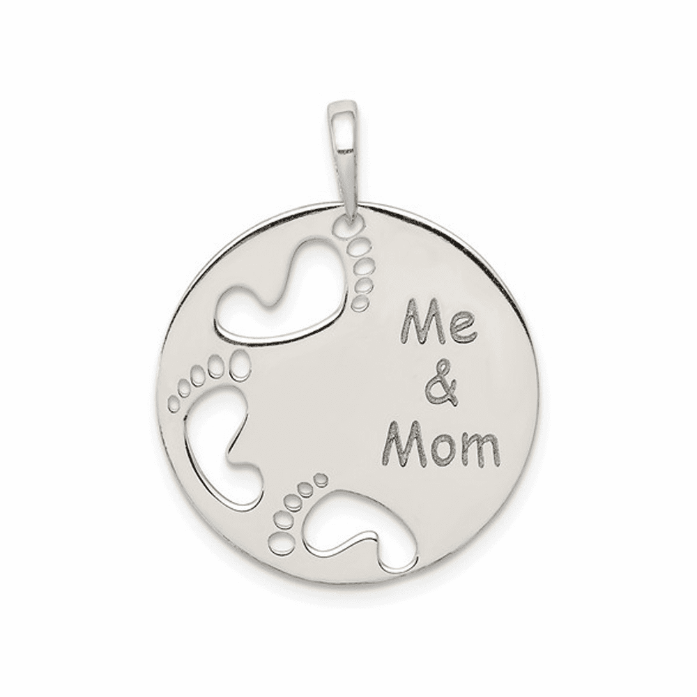 Polished Me and Mom Pendant - Sterling Silver