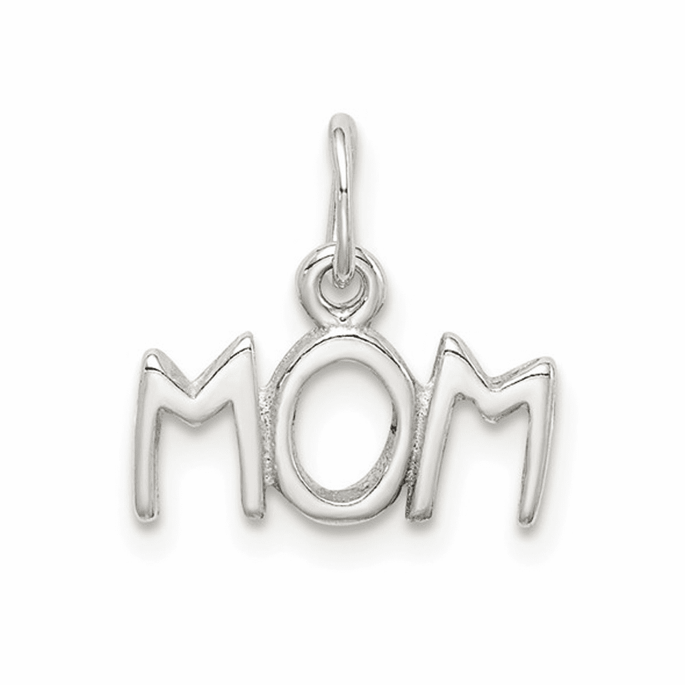 Polished Mom Charm - Sterling Silver