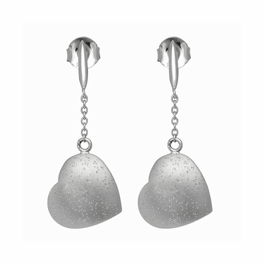 Rhodium Finish Earrings - Sterling Silver