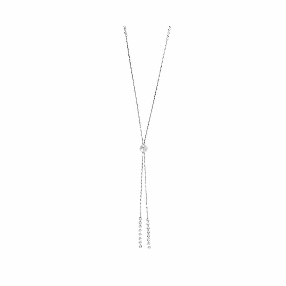 Rhodium Finish Necklace - Sterling Silver 36 Inch