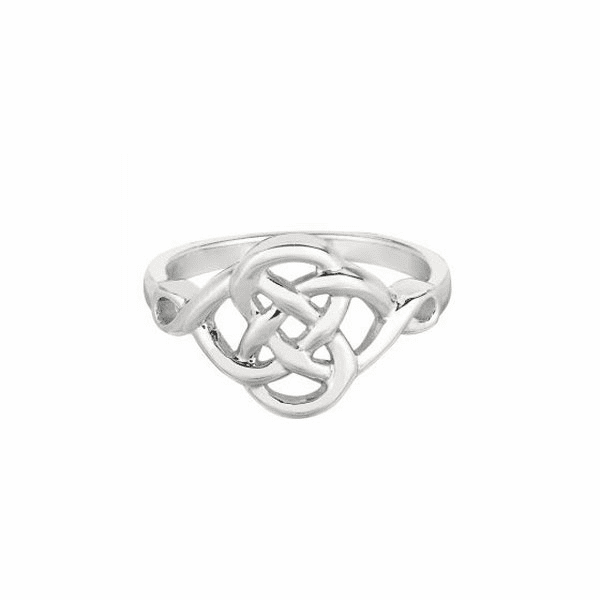 Ring Celtic with Rhodium plated.