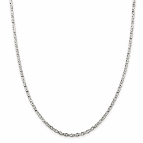 Round Open Link Cable Chain Necklaces