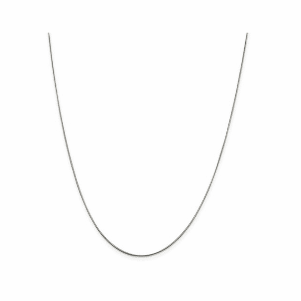 Round Snake Chain Necklace - Sterling Silver 18 Inch