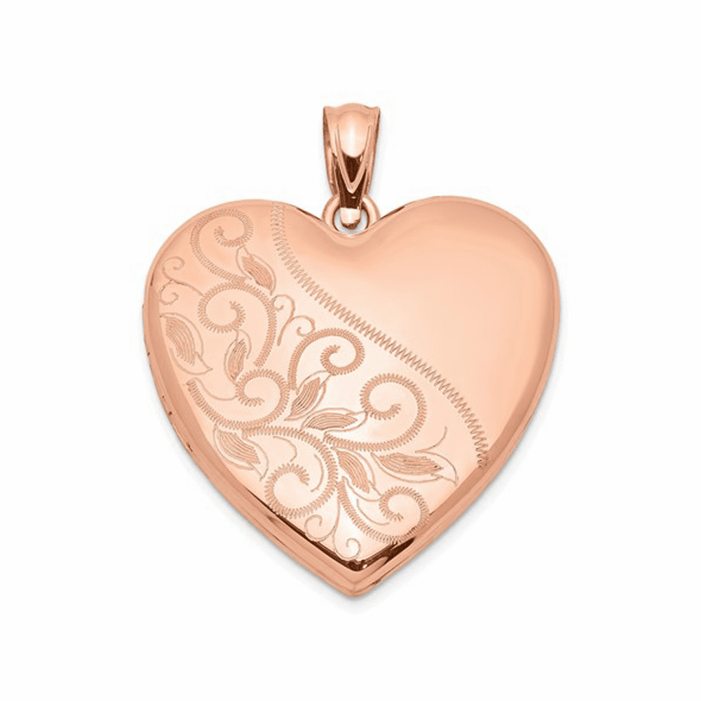 Scrolled Heart Family Locket - Sterling Silver