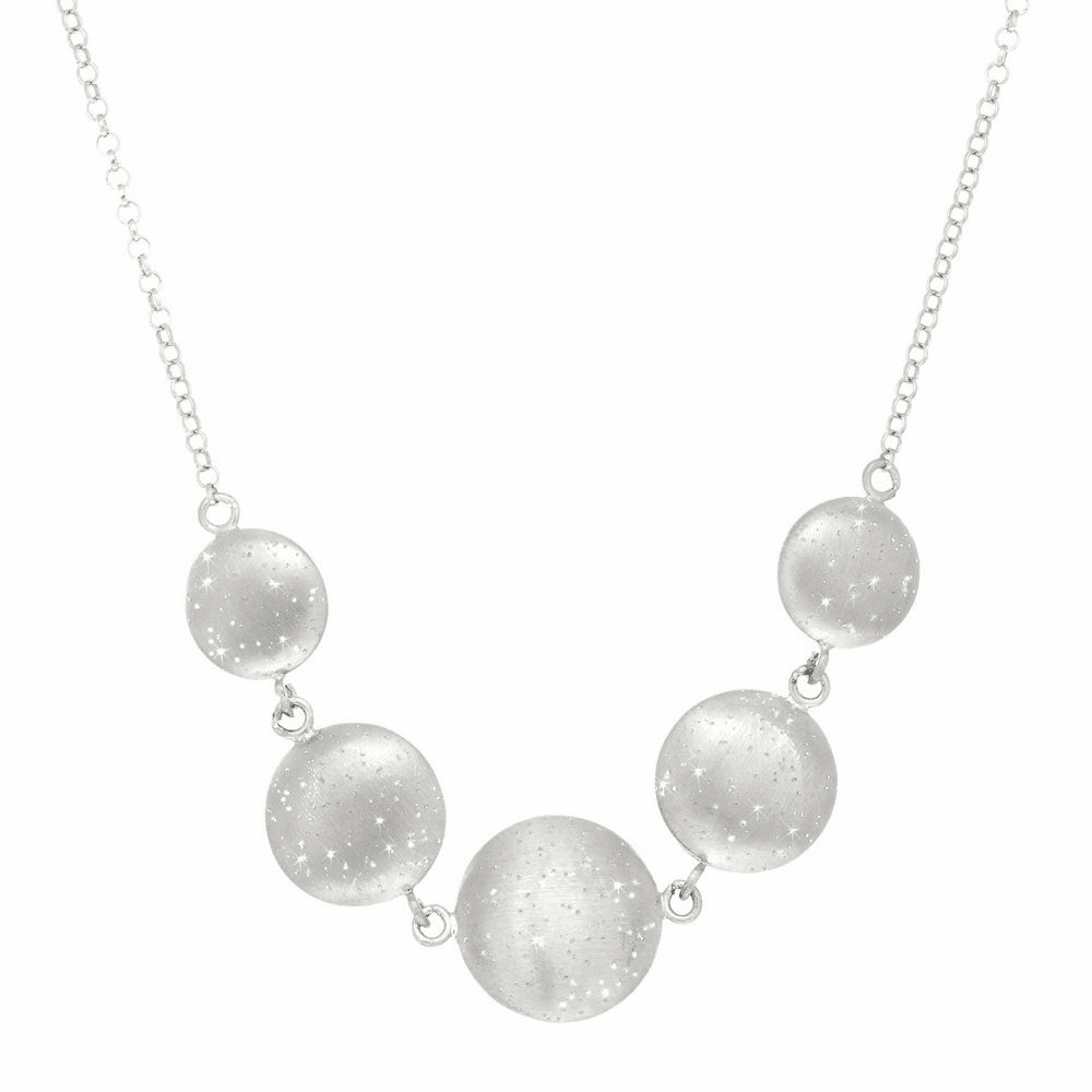 Shiny Round Cable Link Necklace - Sterling Silver 18 Inch